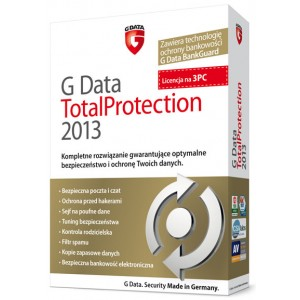 G Data TotalProtection 2013 na 3 PC